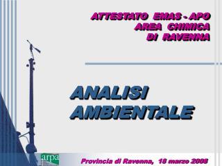 ATTESTATO  EMAS - APO AREA  CHIMICA  DI  RAVENNA