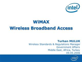 WiMAX Wireless Broadband Access