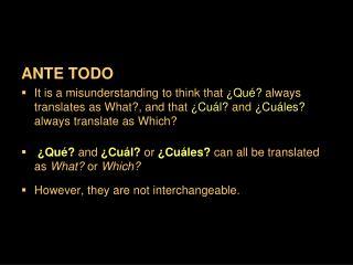ANTE TODO