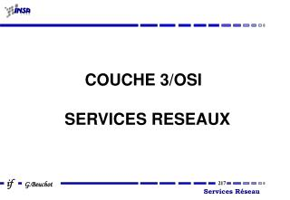 COUCHE 3/OSI SERVICES RESEAUX