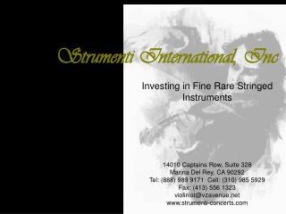 Strumenti International, Inc