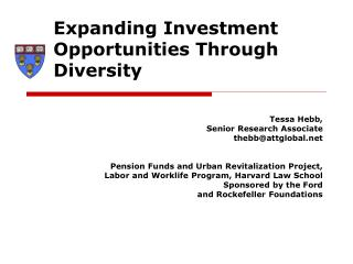 Expanding Investment Opportunities Through Diversity