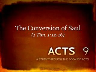 The Conversion of Saul (1 Tim. 1:12-16)