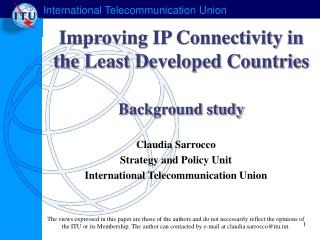 Improving IP Connectivity in the Least Developed Countries Background study