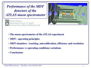 P erformance of the MDT detectors of the  ATLAS muon spectrometer