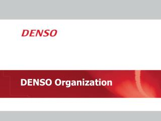 DENSO Organization