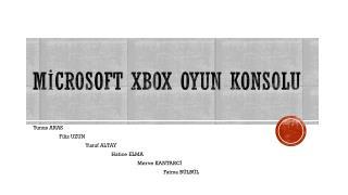 Mİcrosoft  XBOX oyun konsolu