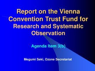 Megumi Seki, Ozone Secretariat