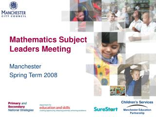 Mathematics Subject Leaders Meeting