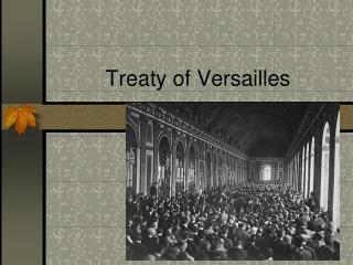 Treaty of Versailles
