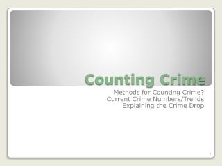 Counting Crime