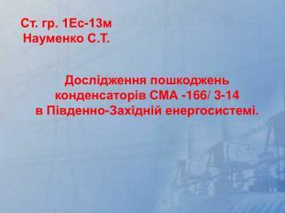 Ст. гр. 1Ес-13м Науменко С.Т.
