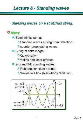 Lecture 6 - Standing waves