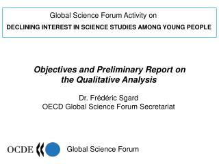 Global Science Forum Activity on