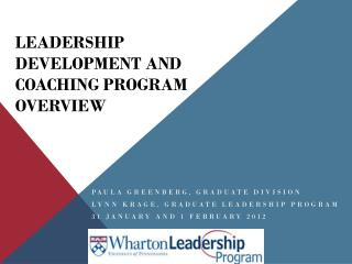 Leadership Development and Coaching Program Overview