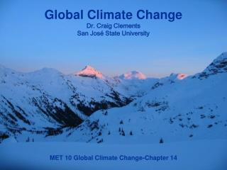 MET 10 Global Climate Change-Chapter 14