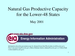 Natural Gas Productive Capacity for the Lower-48 States
