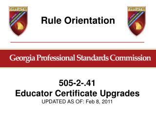 Rule Orientation