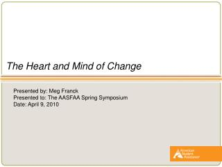 The Heart and Mind of Change