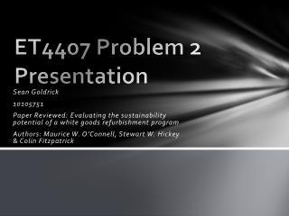 ET4407  Problem 2  Presentation