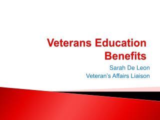 Veterans Education Benefits