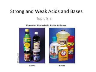 Strong and  Weak  A cids  and  Bases