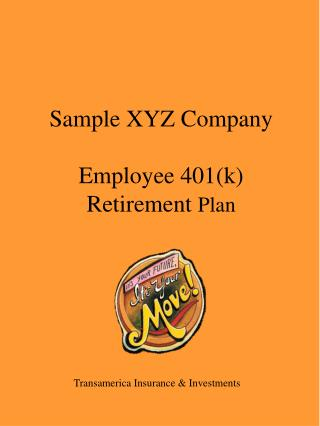 Sample XYZ Company Employee 401(k) Retirement  Plan