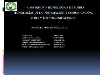 PROFESORA: RUBICELL PINEDA TELLEZ