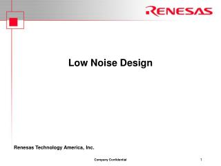 Low Noise Design