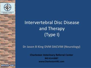 Intervertebral Disc Disease and Therapy (Type I)