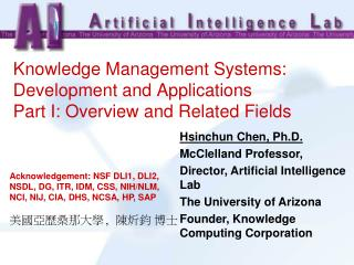 Knowledge Management Systems: Development and Applications Part I: Overview and Related Fields