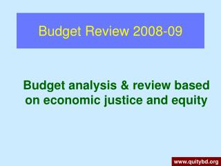 Budget Review 2008-09