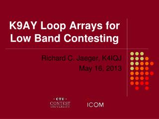 K9AY Loop Arrays for Low Band Contesting