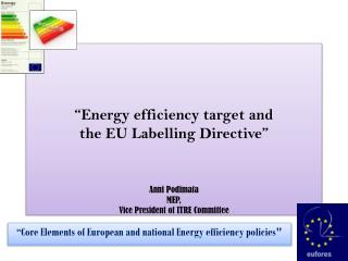 """Core Elements of European and national Energy efficiency policies"""
