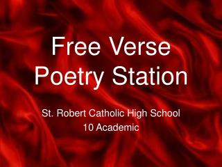 Free Verse Poetry Station