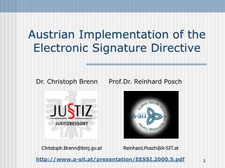 Austrian Implementation of the Electronic Signature Directive