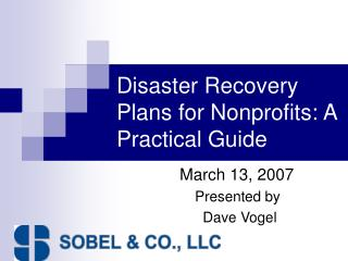 Disaster Recovery Plans for Nonprofits: A Practical Guide