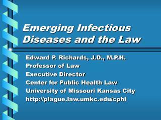 Emerging Infectious Diseases and the Law