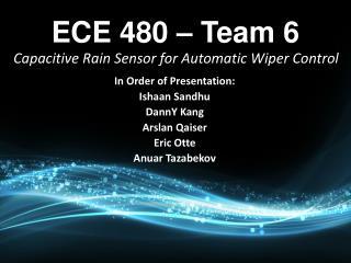 ECE 480 – Team 6