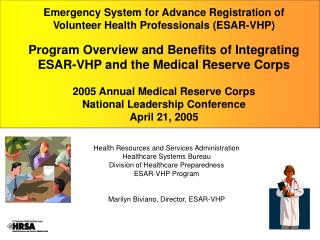 Health Resources and Services Administration Healthcare Systems Bureau