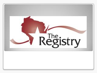 Why a Registry?