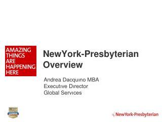 NewYork-Presbyterian Overview
