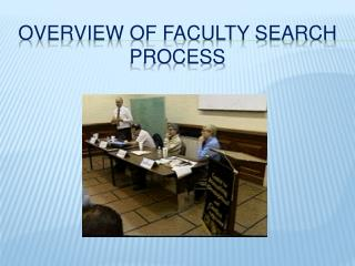 Overview of Faculty Search Process