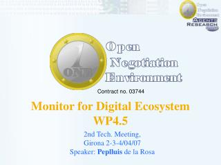 Monitor for Digital Ecosystem WP4.5
