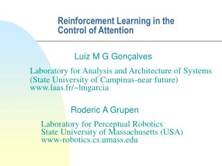Reinforcement Learning in the Control of Attention