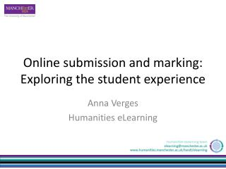 Online submission and marking: Exploring the student experience
