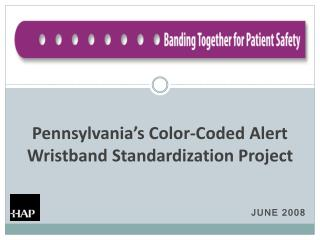 Pennsylvania s Color-Coded Alert Wristband Standardization Project