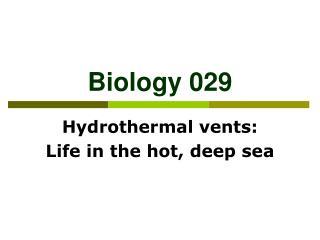 Biology 029