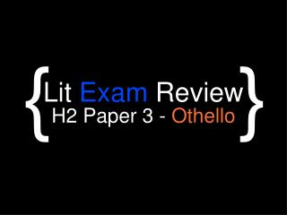 Lit  Exam  Review