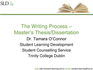 The Writing Process – Master's Thesis/Dissertation